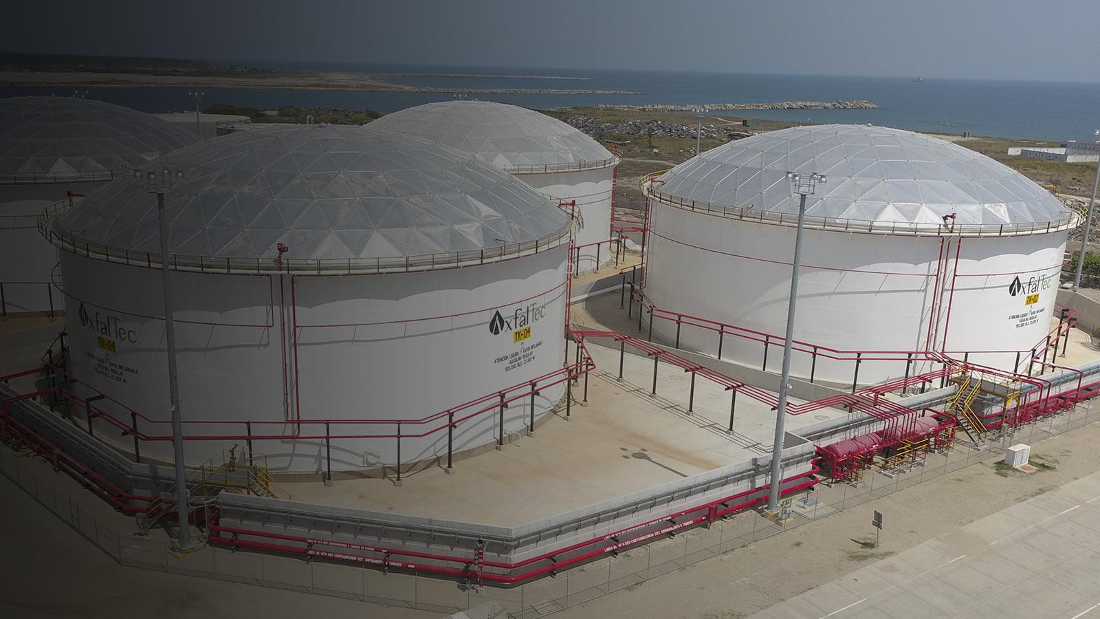 Almacenamiento de combustible en Puerto Dos Bocas